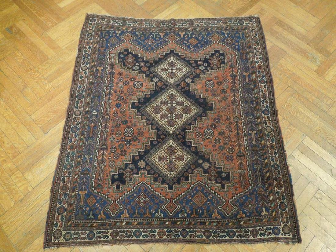Tribal Hand Knotted Antique Persian Rug 4.5x5.3 - 2