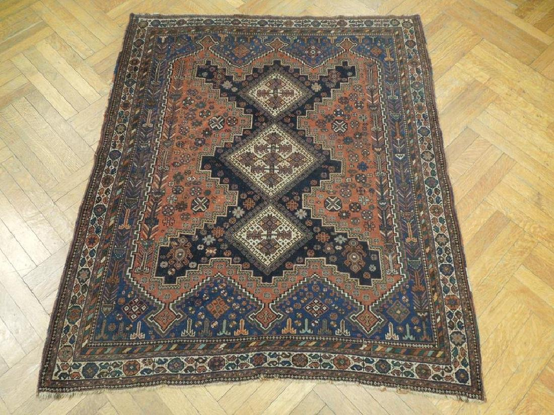 Tribal Hand Knotted Antique Persian Rug 4.5x5.3 - 3