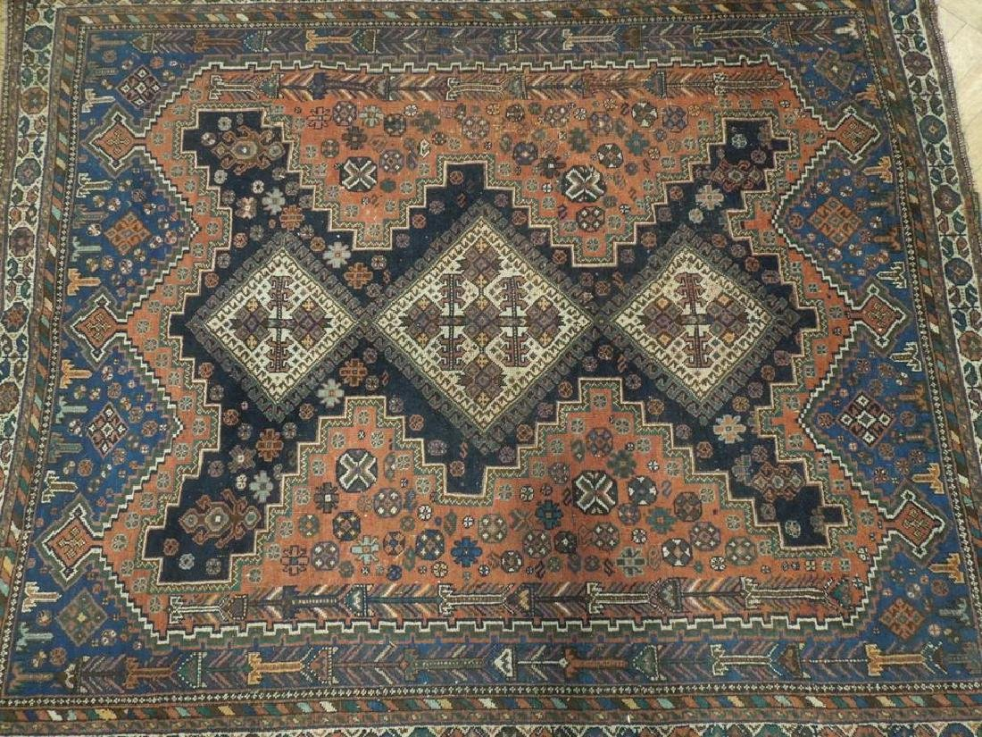 Tribal Hand Knotted Antique Persian Rug 4.5x5.3 - 4