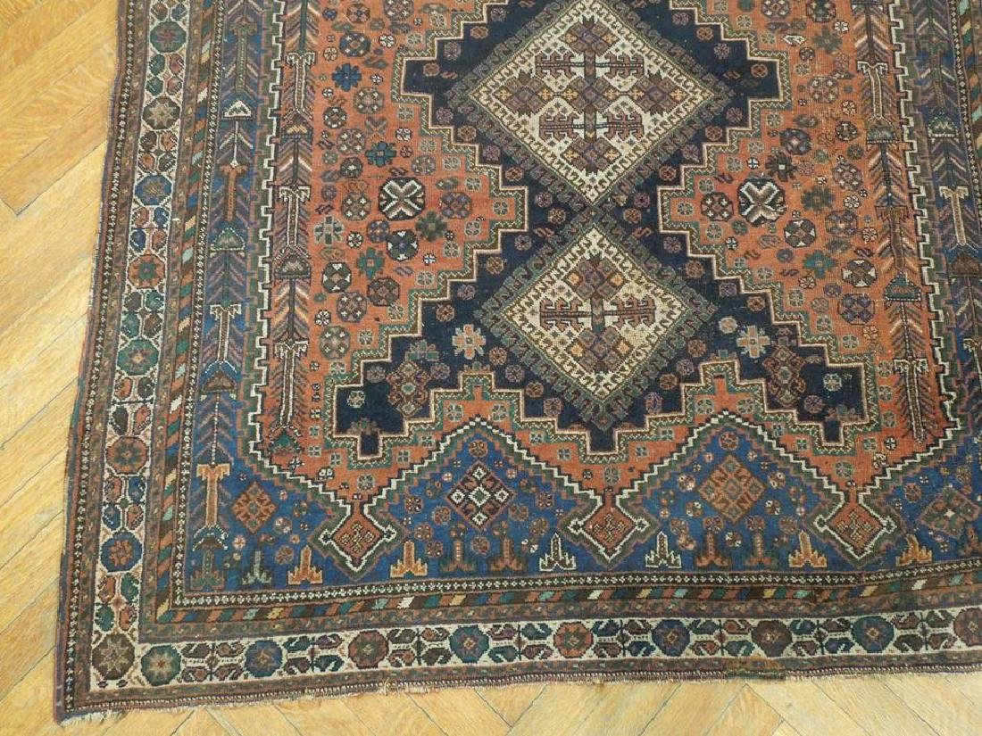Tribal Hand Knotted Antique Persian Rug 4.5x5.3 - 5