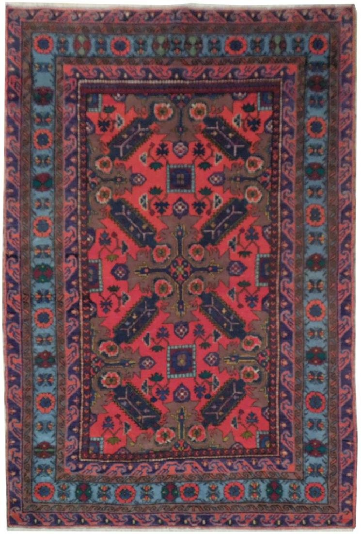 Kazak Caucsian Region Hand Knotted Antique Rug 4.2x6