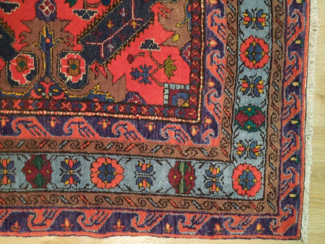 Kazak Caucsian Region Hand Knotted Antique Rug 4.2x6 - 5