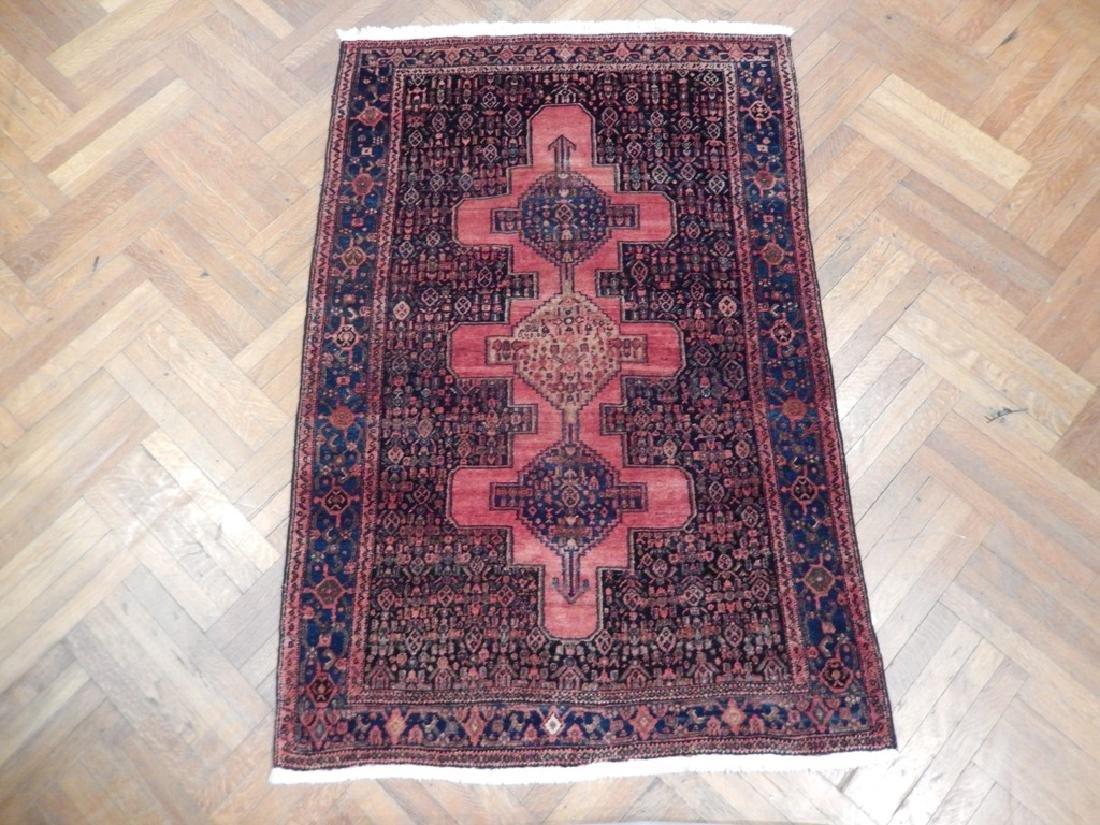 Vintage Handmade Wool Semi-Antique Persian Rug 4.4x6.7 - 2