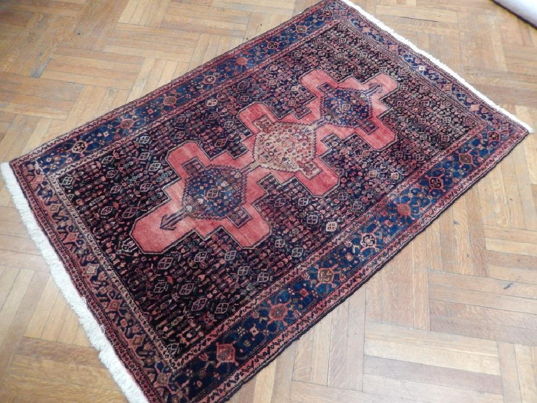 Vintage Handmade Wool Semi-Antique Persian Rug 4.4x6.7 - 3