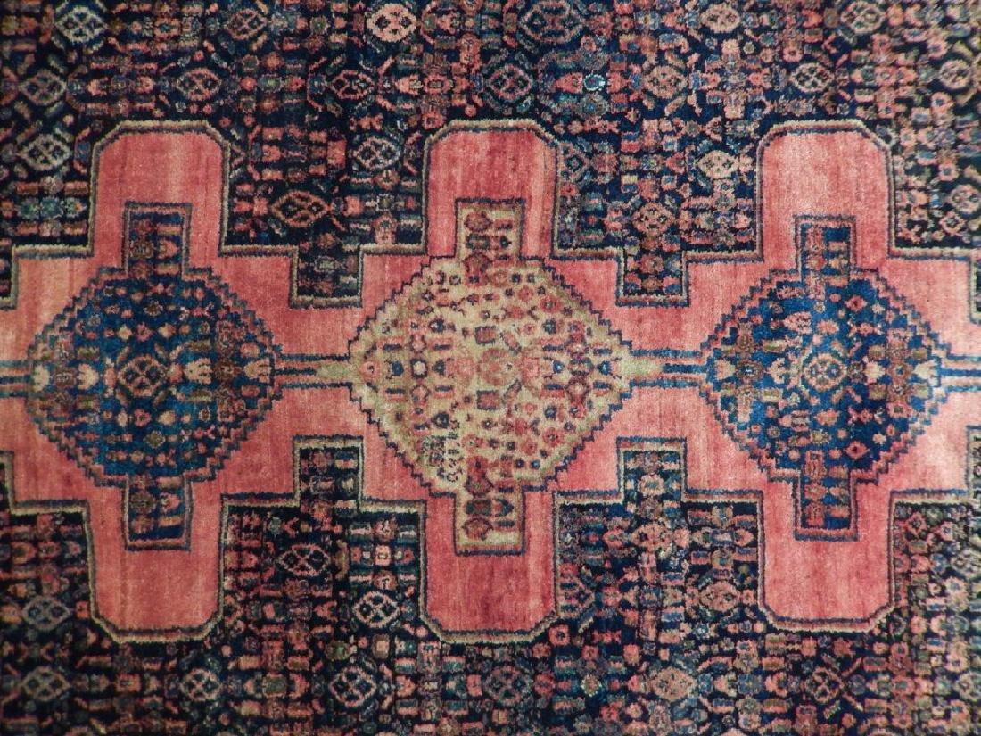 Vintage Handmade Wool Semi-Antique Persian Rug 4.4x6.7 - 4