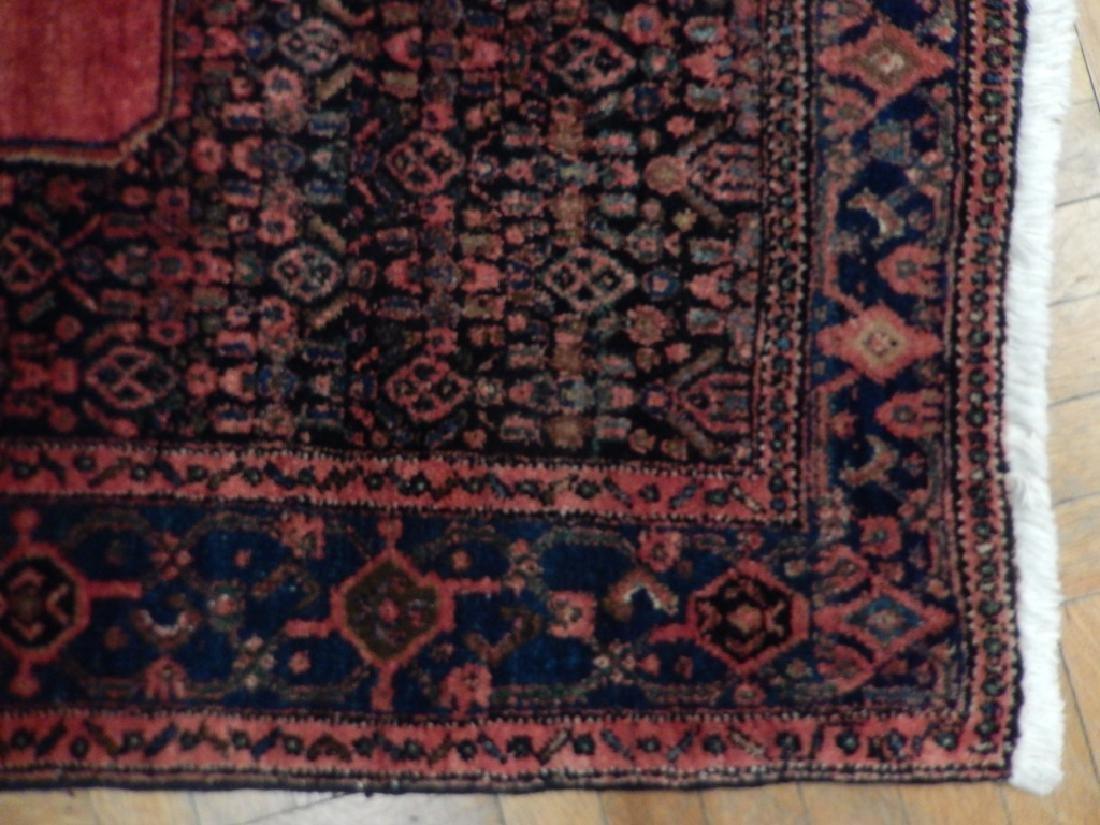 Vintage Handmade Wool Semi-Antique Persian Rug 4.4x6.7 - 5
