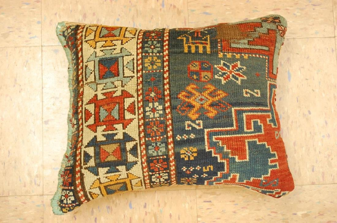 Fine Caucasian Shirvan Antique Rug Pillow 1.4x1.8