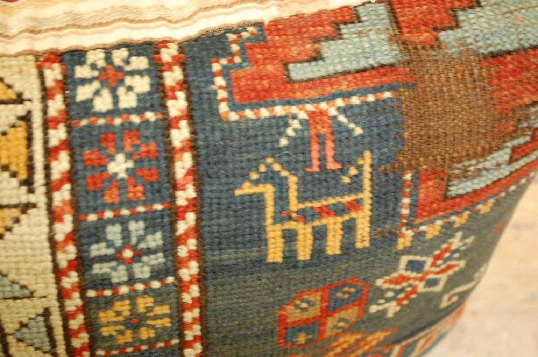 Fine Caucasian Shirvan Antique Rug Pillow 1.4x1.8 - 2