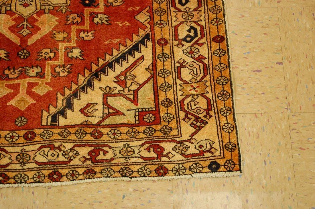 Detailed Subject Design Fine Persian Heriz Rug 3.9x10.7 - 2