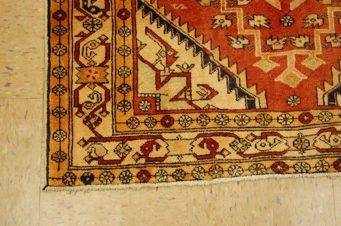 Detailed Subject Design Fine Persian Heriz Rug 3.9x10.7 - 3