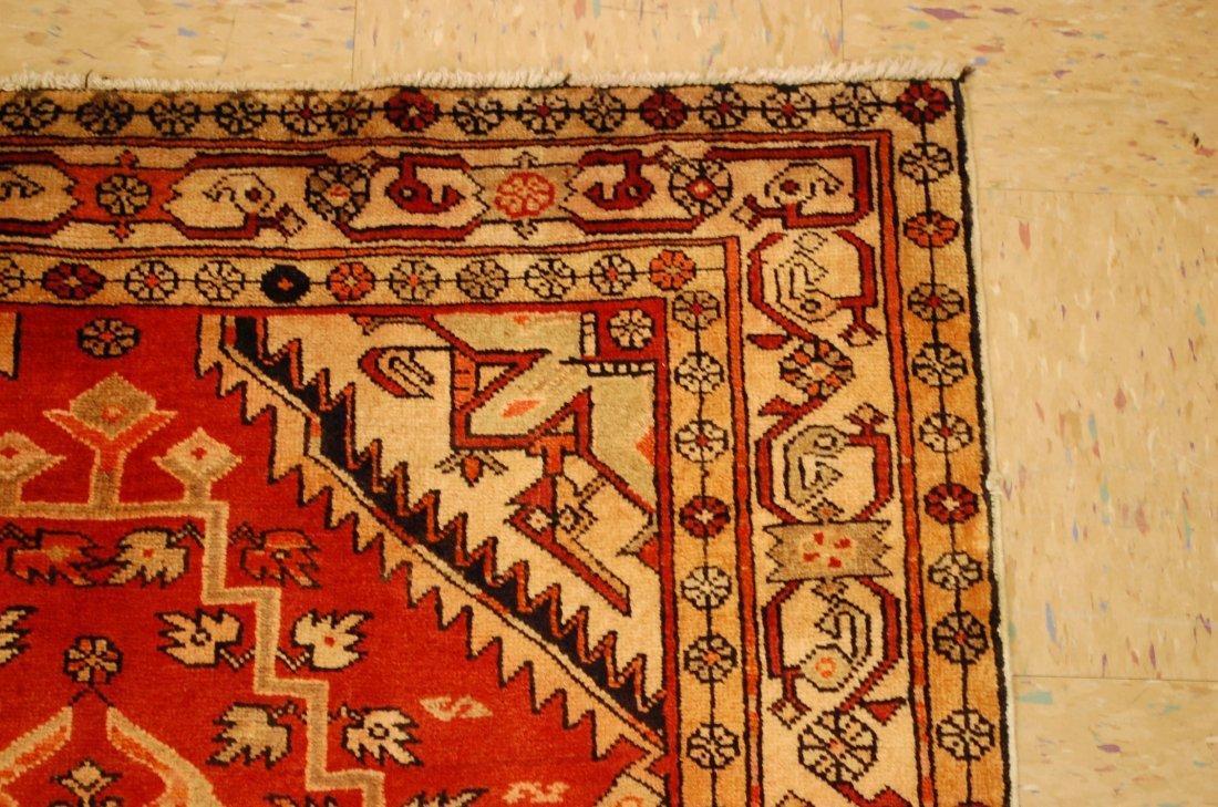 Detailed Subject Design Fine Persian Heriz Rug 3.9x10.7 - 5