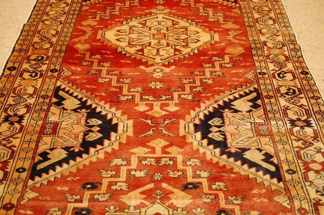 Detailed Subject Design Fine Persian Heriz Rug 3.9x10.7 - 6