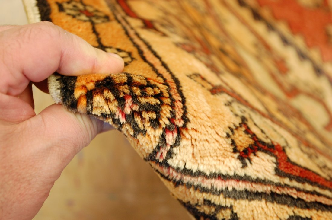 Detailed Subject Design Fine Persian Heriz Rug 3.9x10.7 - 7
