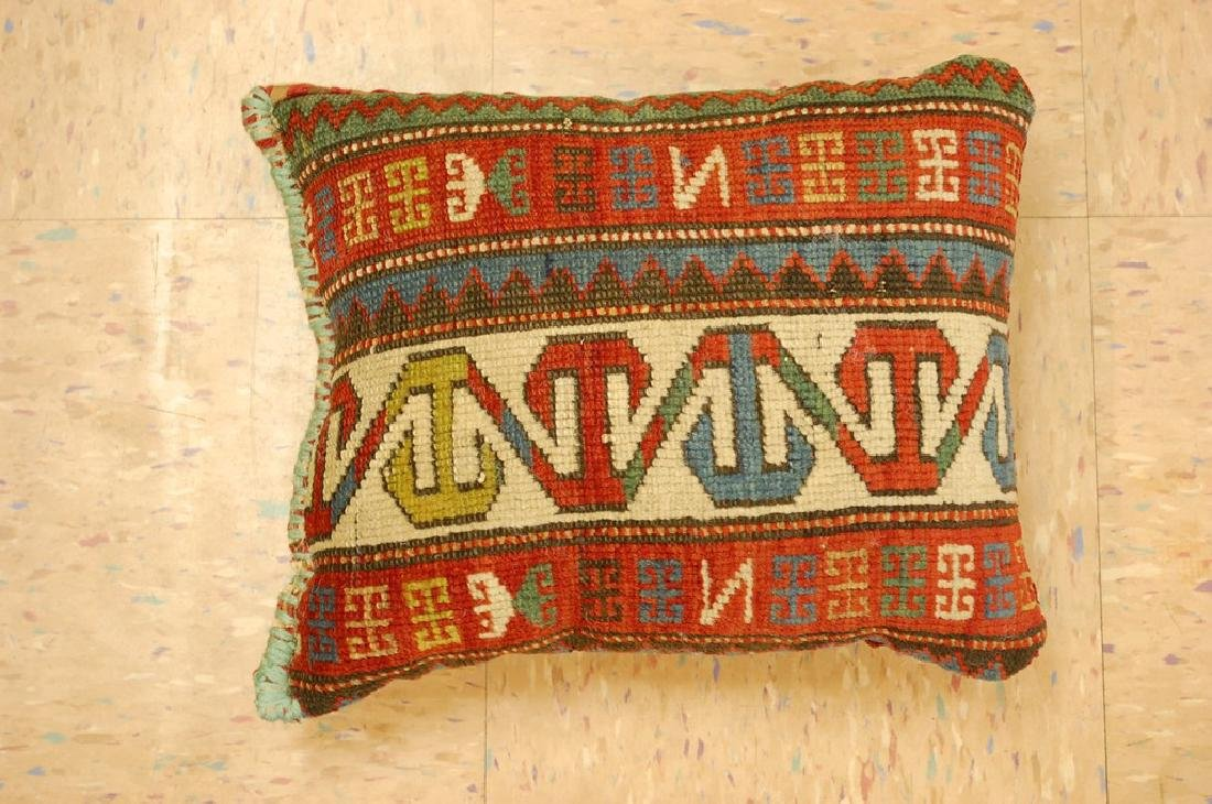 Fine Caucasian Shirvan Antique Rug Pillow 1.2x1.5