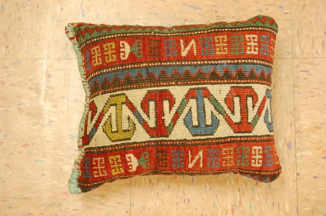 Fine Caucasian Shirvan Antique Rug Pillow 1.2x1.5