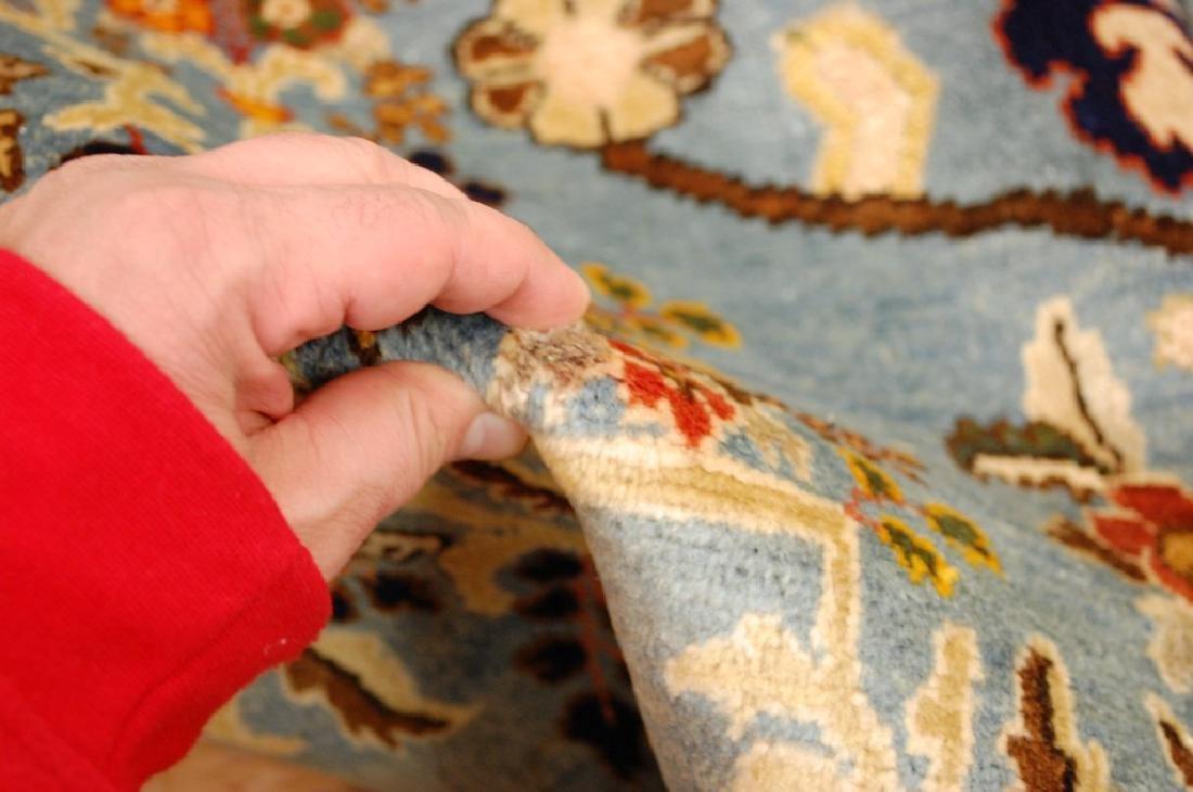 Silk and Wool Persian Qome Rug 4.2x8.4 - 10