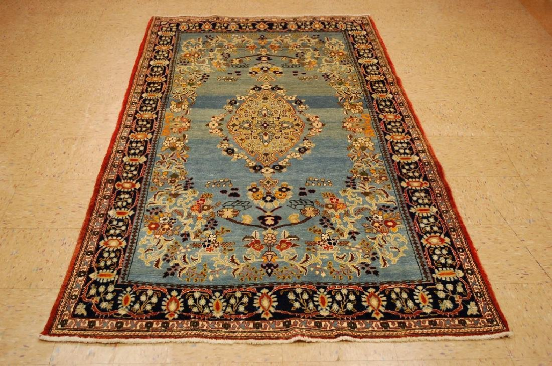 Silk and Wool Persian Qome Rug 4.2x8.4