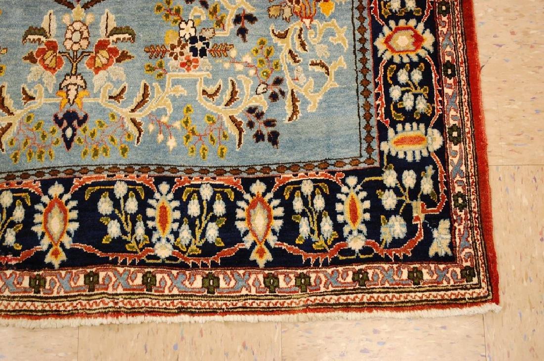 Silk and Wool Persian Qome Rug 4.2x8.4 - 2