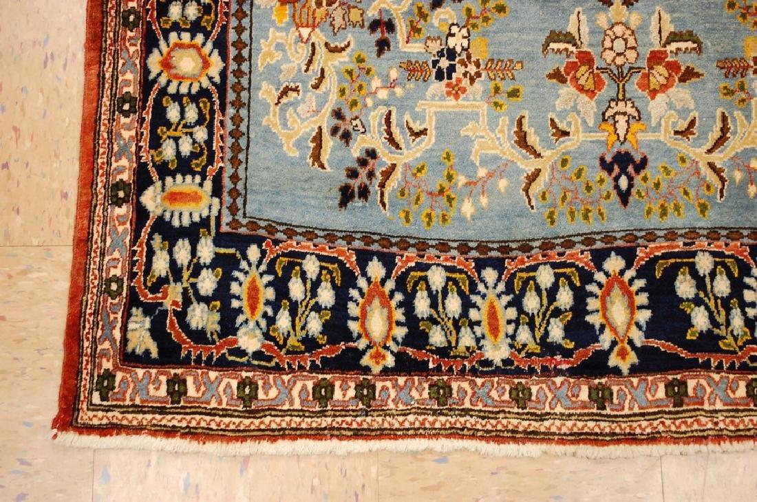 Silk and Wool Persian Qome Rug 4.2x8.4 - 3