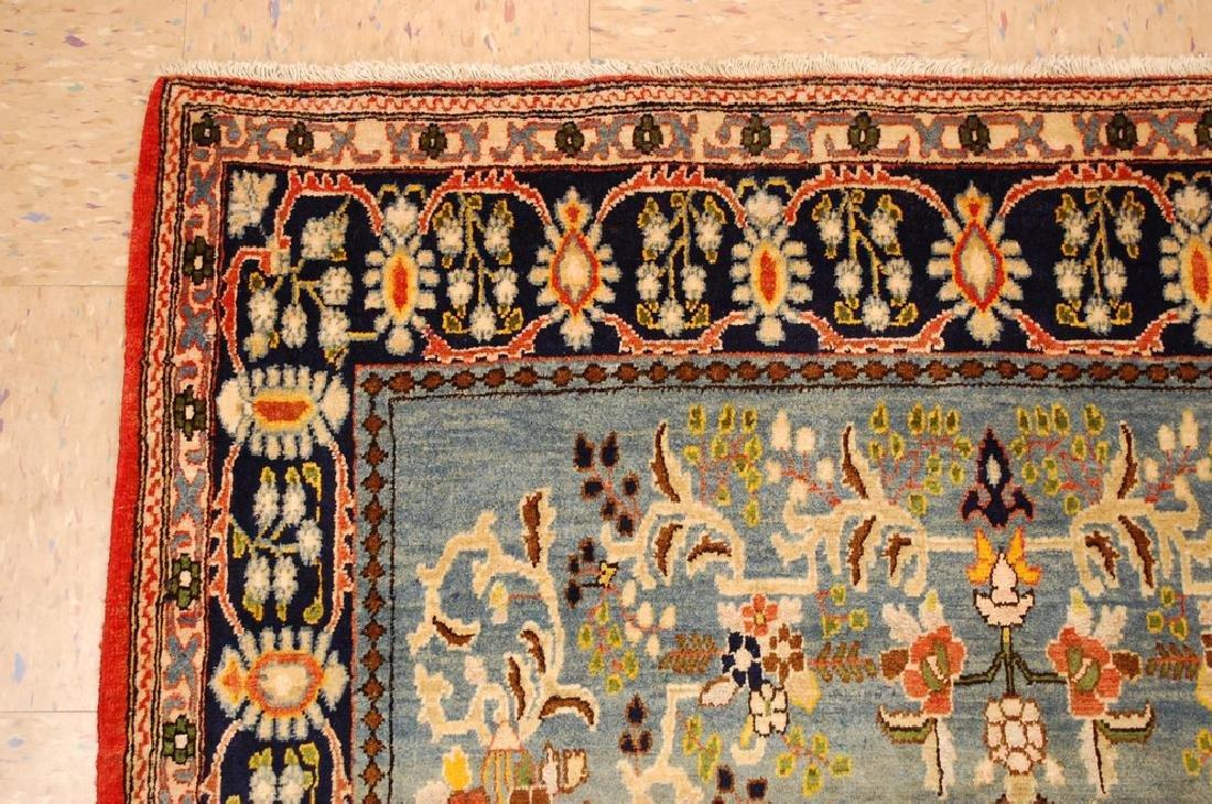 Silk and Wool Persian Qome Rug 4.2x8.4 - 4