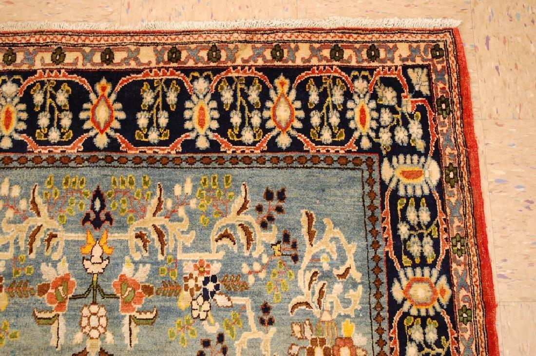 Silk and Wool Persian Qome Rug 4.2x8.4 - 5