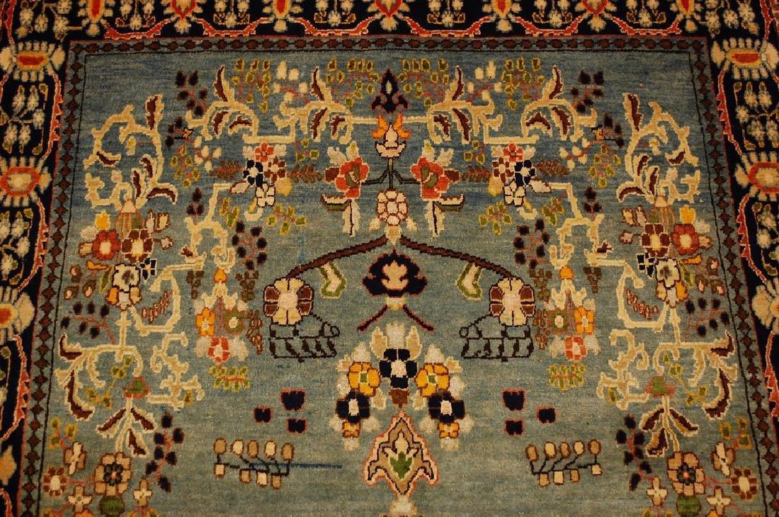 Silk and Wool Persian Qome Rug 4.2x8.4 - 6
