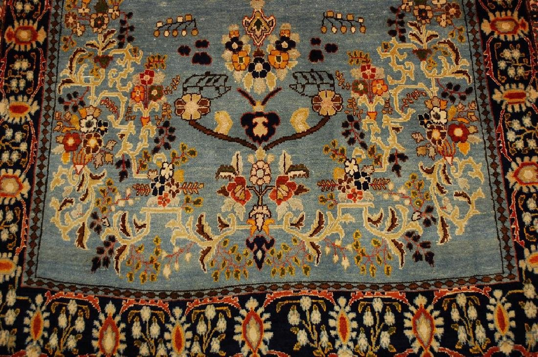Silk and Wool Persian Qome Rug 4.2x8.4 - 7