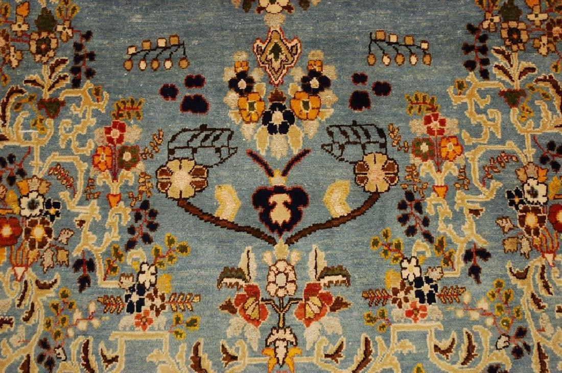 Silk and Wool Persian Qome Rug 4.2x8.4 - 8