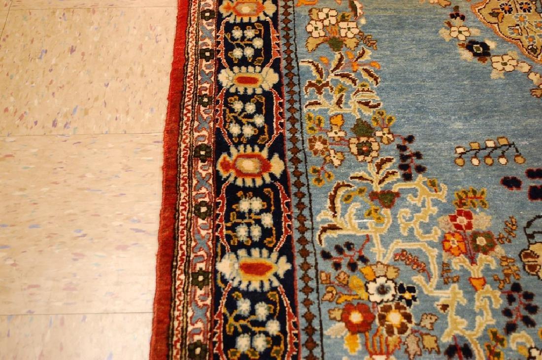 Silk and Wool Persian Qome Rug 4.2x8.4 - 9