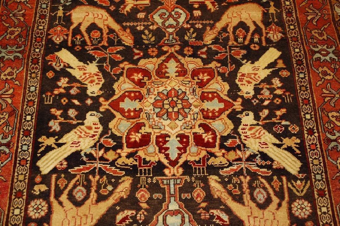 Fine Persian Sarouk Rug 4.6x10.2 - 6