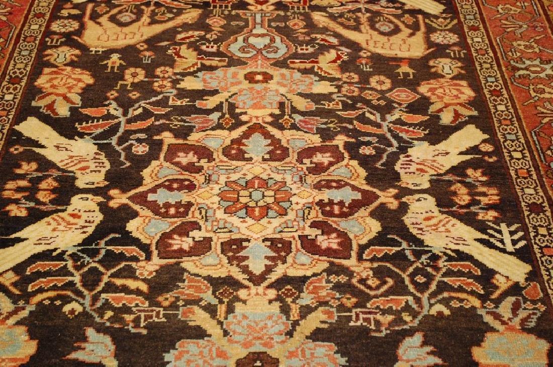 Fine Persian Sarouk Rug 4.6x10.2 - 8