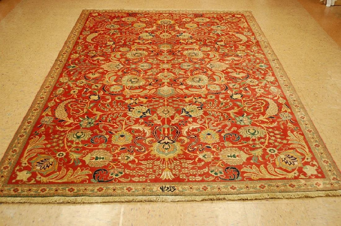 Master Weave Persian Tabriz Signed Hadadyan Rug 6.3x9.2