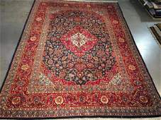 Semi Antique Persian Kashan Rug 8.2x11.2