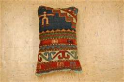 Fine Caucasian Shirvan Antique Rug Pillow 12x15
