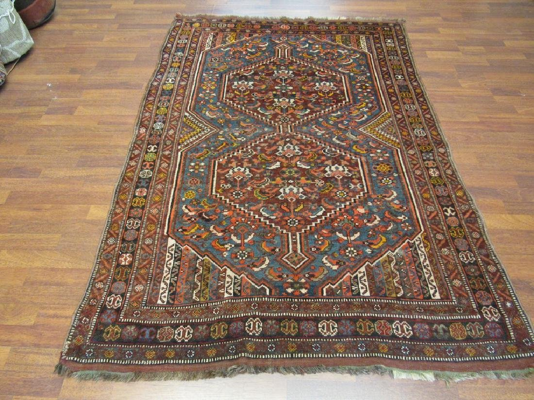 Antique Persian Shiraz Rug 4.6x6.6