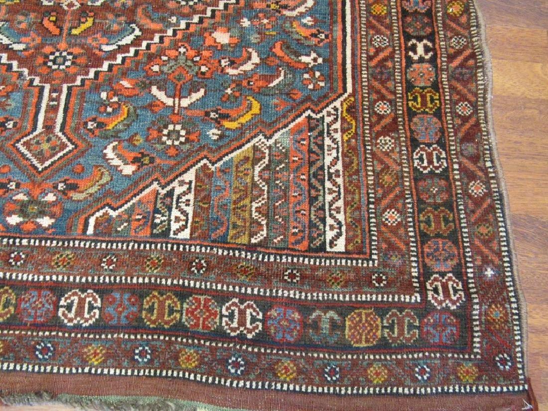 Antique Persian Shiraz Rug 4.6x6.6 - 2