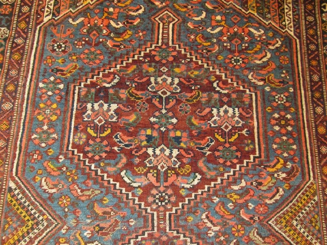 Antique Persian Shiraz Rug 4.6x6.6 - 4