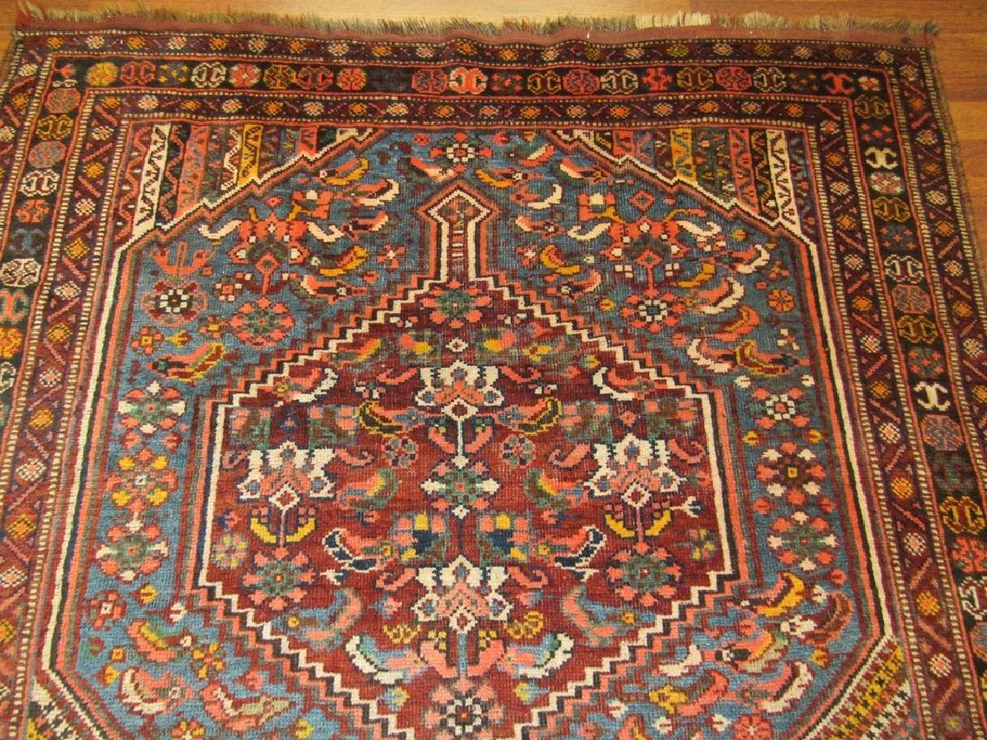 Antique Persian Shiraz Rug 4.6x6.6 - 5
