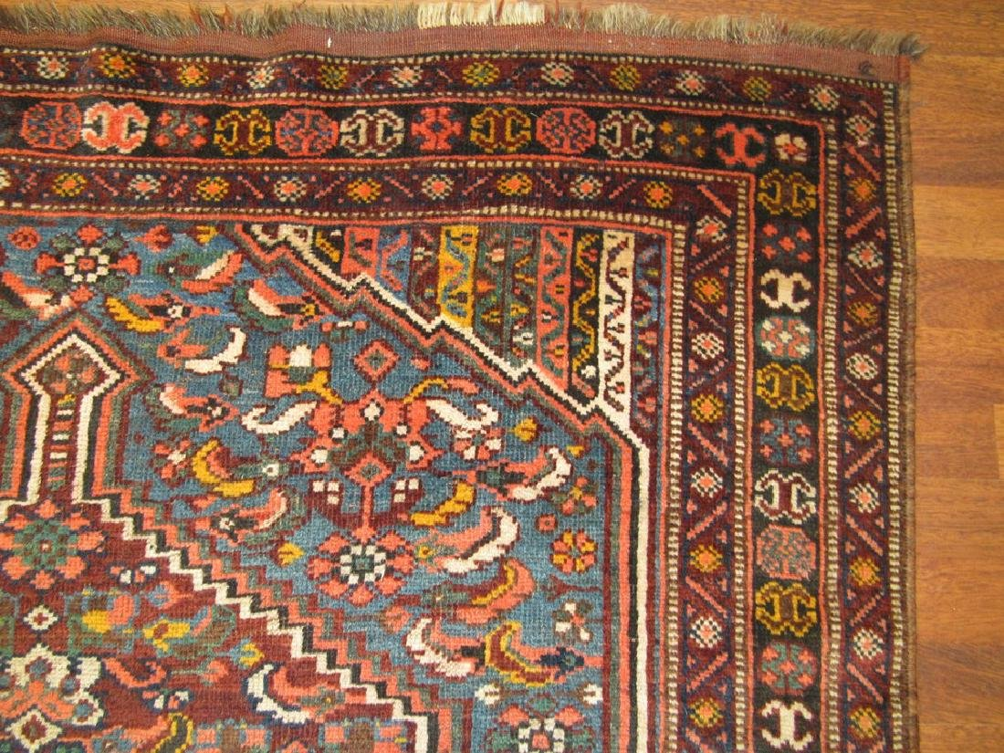 Antique Persian Shiraz Rug 4.6x6.6 - 6