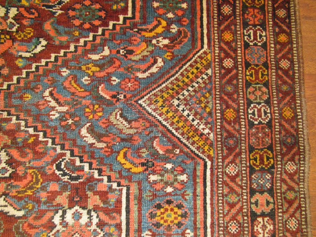 Antique Persian Shiraz Rug 4.6x6.6 - 7
