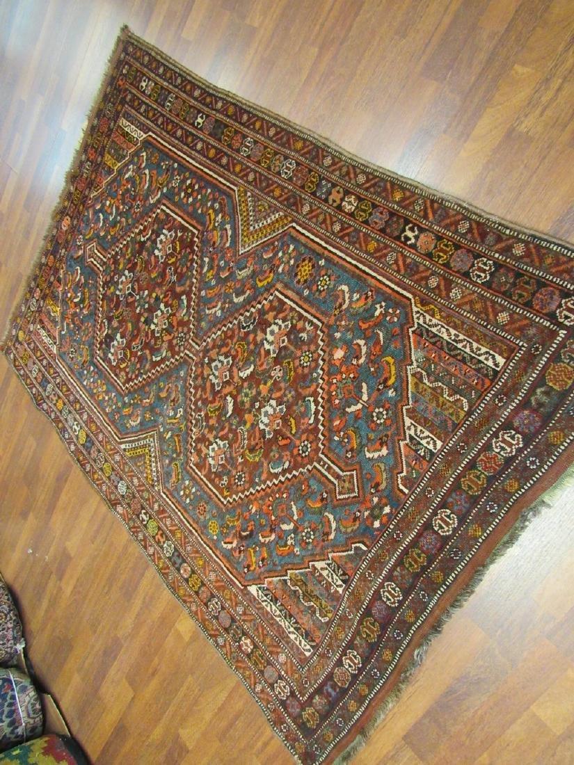Antique Persian Shiraz Rug 4.6x6.6 - 8