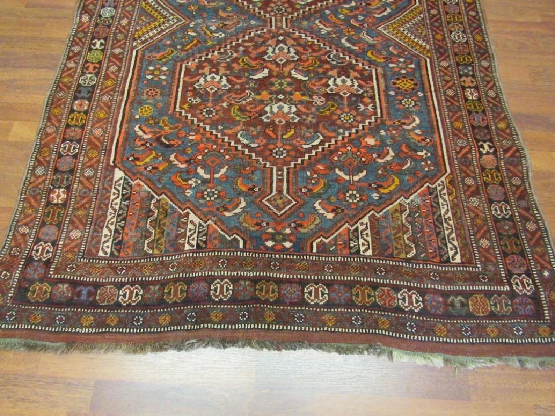 Antique Persian Shiraz Rug 4.6x6.6 - 9