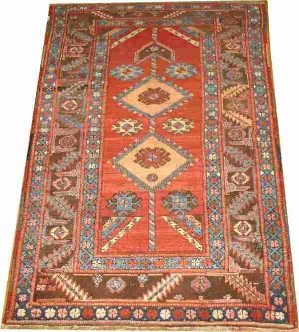 Antique Tribal Persian Heriz Serapi Bakhshaish Rug 3x5