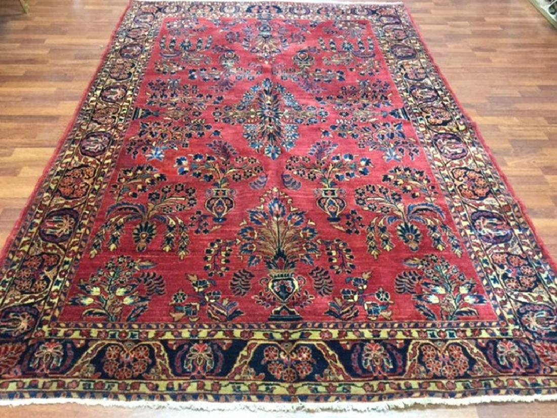 Antique Persian Sarouk Rug 6.1x9.6