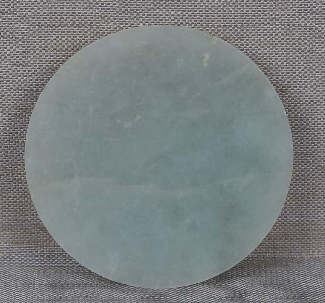 Antique Chinese Jadeite Snuff Bottle Saucer