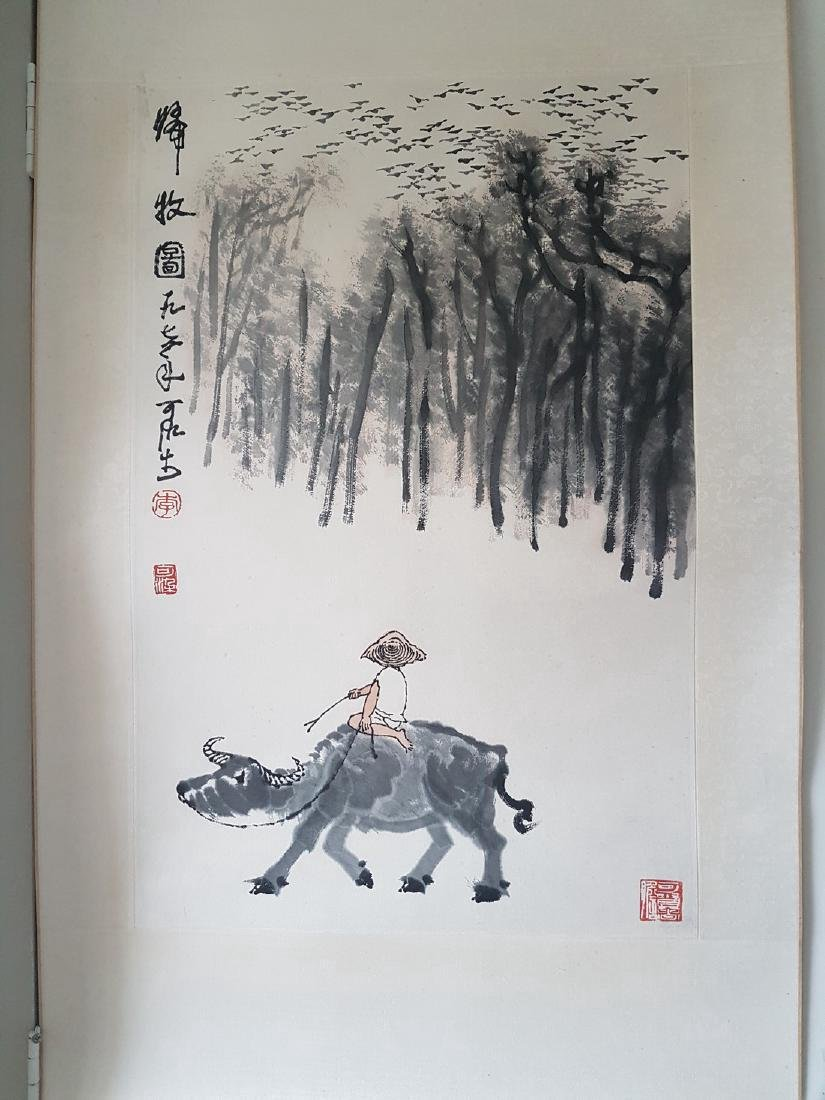 Chinese Scroll Painting on paper Li Keran