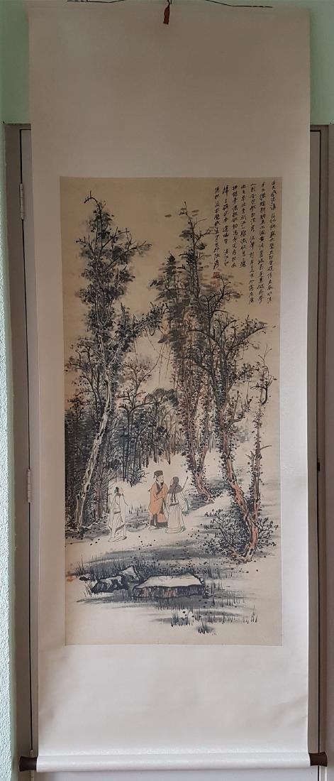 Chinese Scroll Painting on paper Zhang Daqian