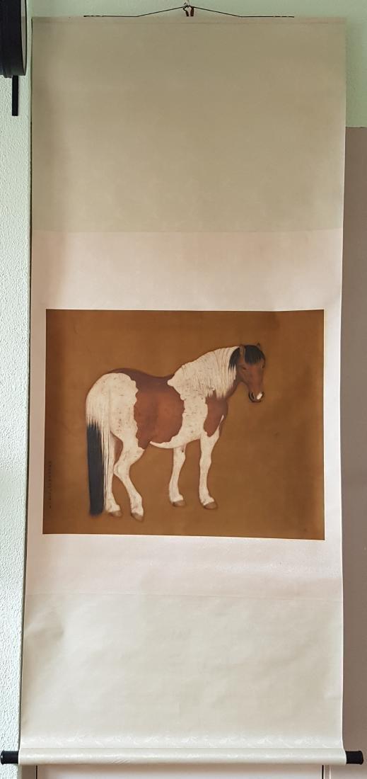 Chinese Silk Scroll Painting, Lang Shining