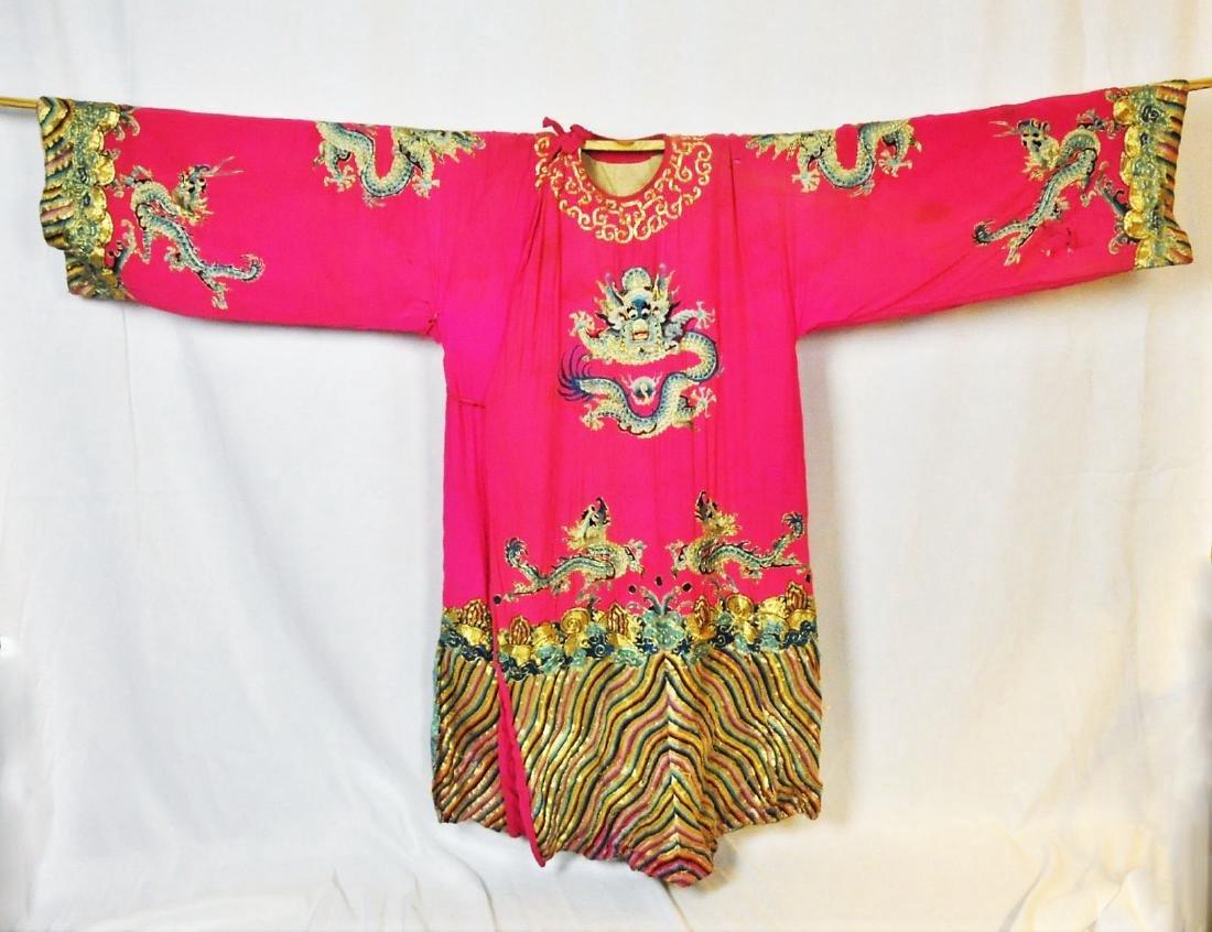Chinese Women's Silk Theater Robe