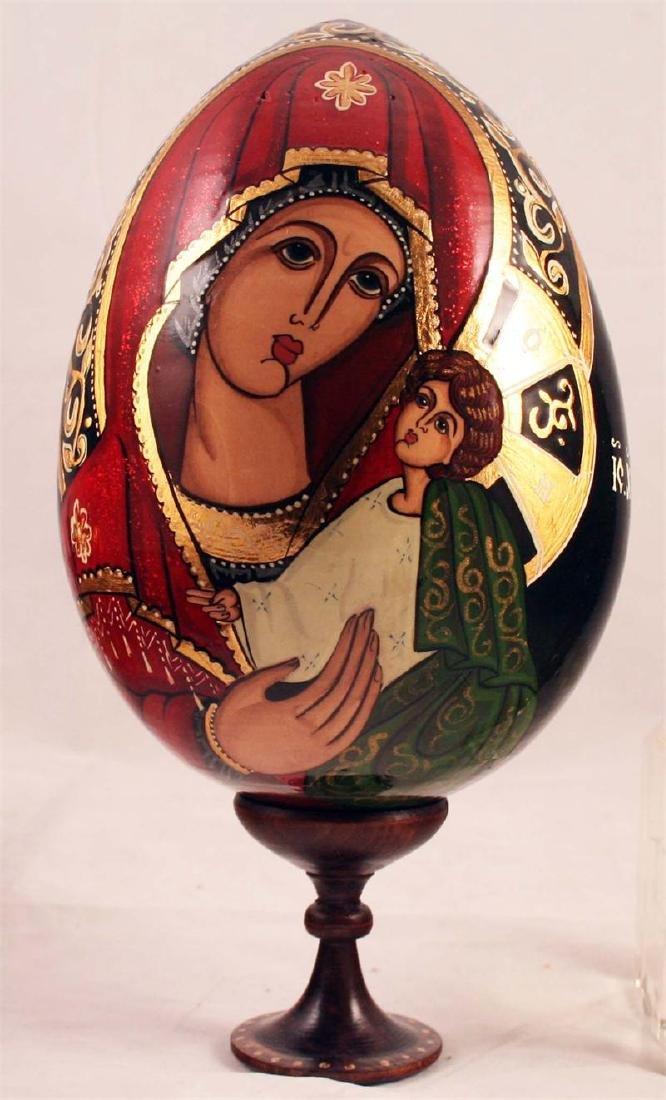 Religious Wooden Egg 4